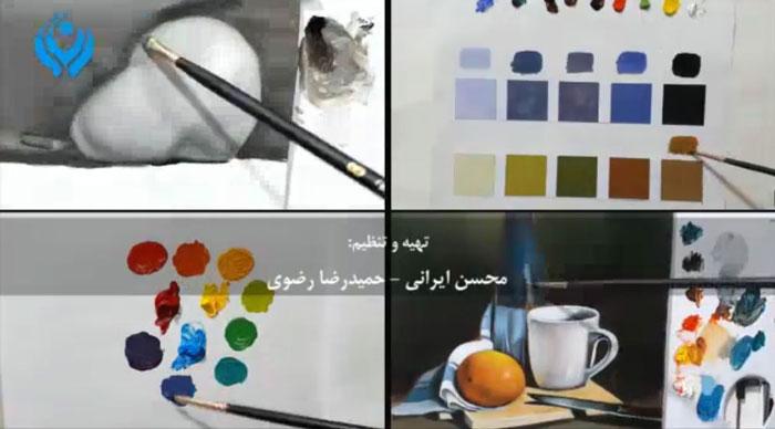 آموزش نقاشی رنگ روغن