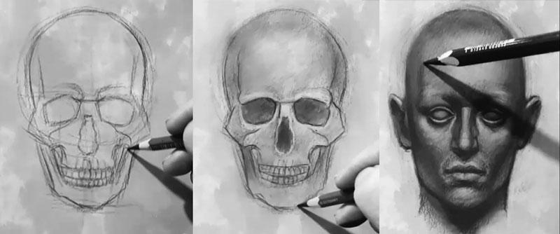 طراحی چهره و جمجمه